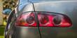 światła auta - zbliżenie