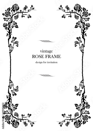 Black rose frame - 145151652