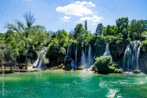 Fototapeta Kravice Waterfall and Trebizat River in Bosnia