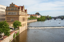 Vltava River In Old Town Prague, Czech Republic