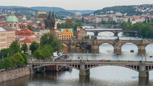 Bridges Of Prague And The Vltava River, Prague, Czech Republic