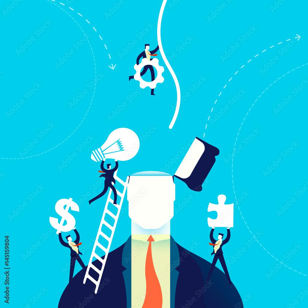 Fototapeta Business creative mind change concept illustration