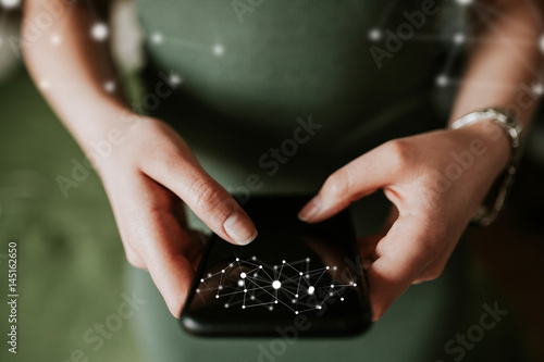 Photo  Mobile data communication concept