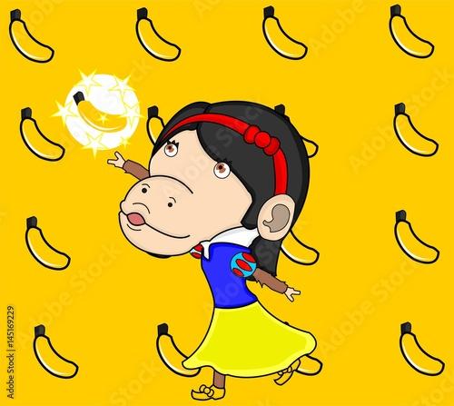 monkey snow white parody Wallpaper Mural