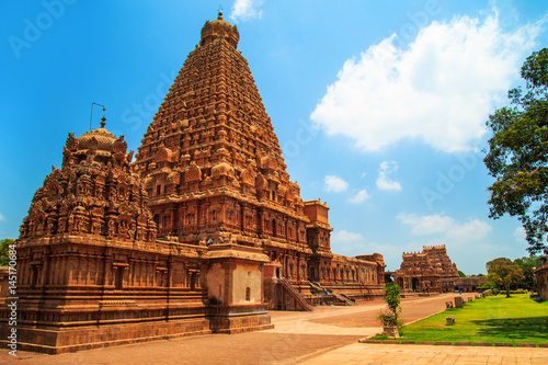 Edifice religieux Brihadeeswara Temple in Thanjavur, Tamil Nadu, India.