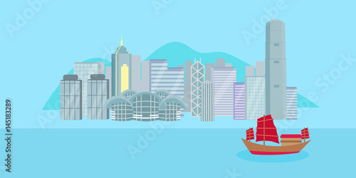Photo  cartoon hongkong city