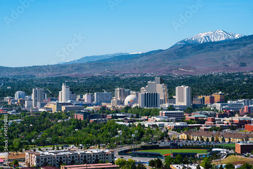 Fotografie, Obraz Reno, Nevada skyline