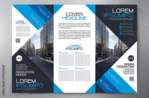 brochure 3 fold flyer design a4 template buy this stock vector