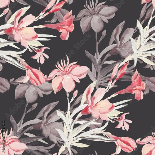 bezszwowy-deseniowy-bukiet-srodziemnomorscy-miastowi-kwiaty-na-barwionym-tle