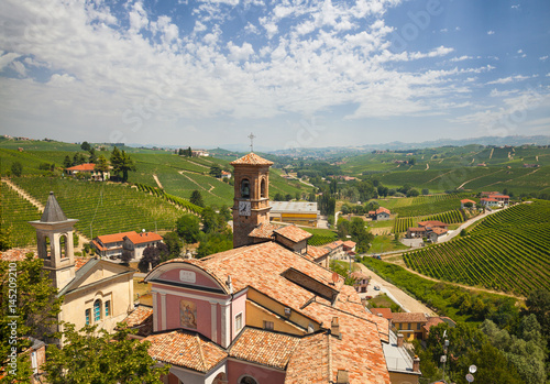 The Vineyards Of Barolo. Italy Wallpaper Mural