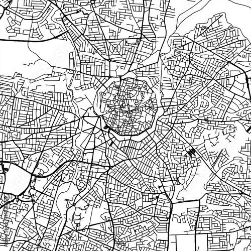 Fototapeta Nicosia.Cyprus Vector Map