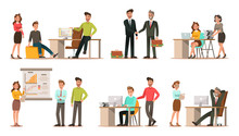 Set Of Business Characters Wor...
