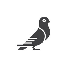 Carrier Pigeon Icon Vector, Fi...