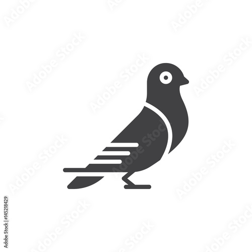 Carrier pigeon icon vector, filled flat sign, solid pictogram isolated on white. Dove symbol, logo illustration. Pixel perfect Wall mural