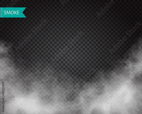 Poster Fumee Clouds or smoke vector on transparent background