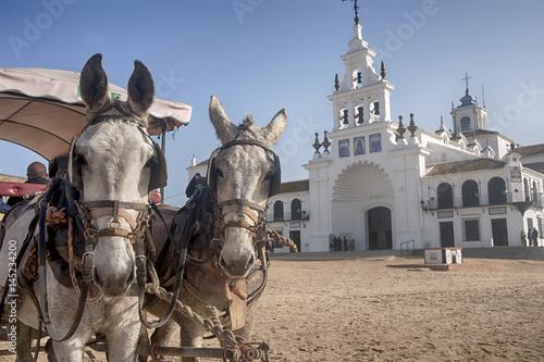 Santuario de la Virgen del Rocío en las marismas del coto de Doñana, Huelva