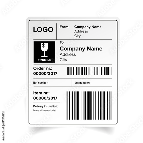 shipping label template buy this stock vector and explore similar