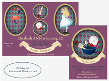 Alice In Wonderland. Royal Cro...