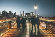 Brooklyn Bridge At Night - New...