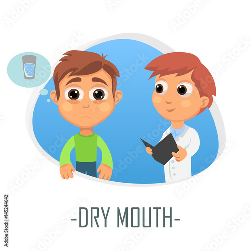 Dry mouth medical concept. Vector illustration. Wallpaper Mural