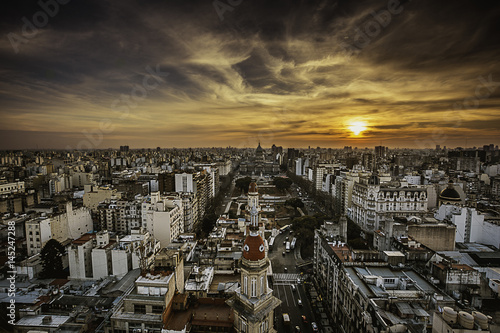 Foto op Canvas Buenos Aires Buenos Aires Skyline at Sunset