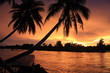 Sunset at 4000 islands in laos