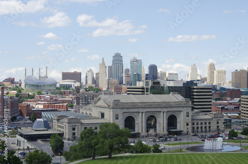 Downtown Kansas City, Missouri in Summer