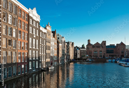 Photo  One of canals in Amsterdam