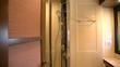 Elegant bathroom with shower box on a luxury yacht.
