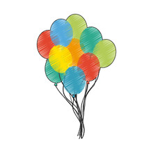 Assorted Colors Balloons Icon ...