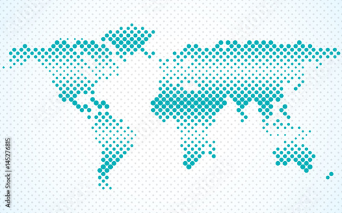 Abstract halftone world map. Dotted map. Vector - Buy this stock ...