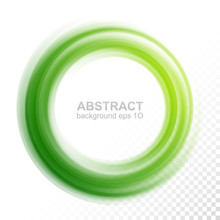 Abstract Transparent Green Swi...