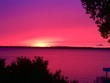 canvas print picture - St. Lawrence River sunset