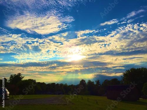 Cadres-photo bureau Campagne Evening sun