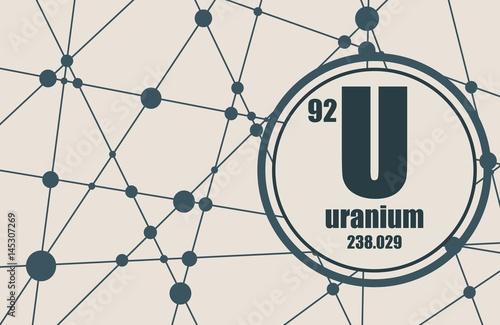 Fototapeta  Uranium chemical element
