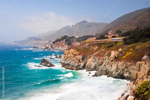 Foto op Aluminium Bleke violet Beautiful coast in California