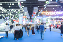 Abstract Blurred Image Background Of International Motorshow