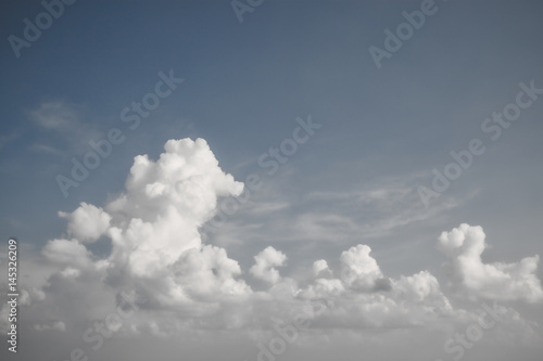 Garden Poster Heaven blue sky and cloud vintage style background