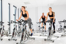 Group Of Fit People Training A...