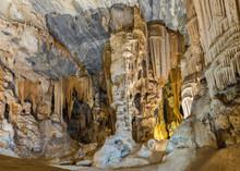 Stalactites And Stalagmites In The Botha Hall, Cango Caves