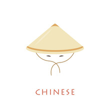 Chinese Conical Hat And Eyes.