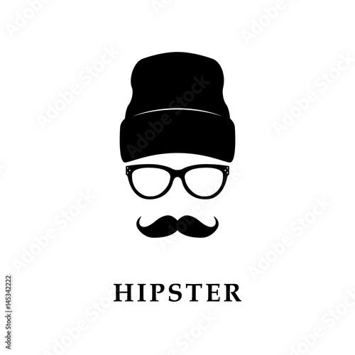 Fototapeta Twarz Hipster.