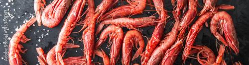 gamberi rossi di sicilia freschi Fototapet