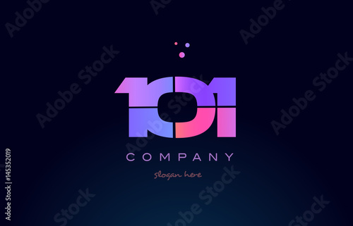 фотография  101 pink magenta purple number digit numeral logo icon vector