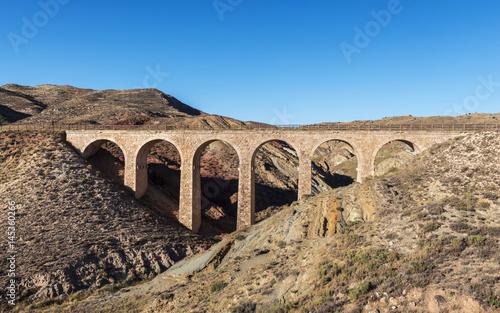 Puente antiguo de piedra Canvas Print