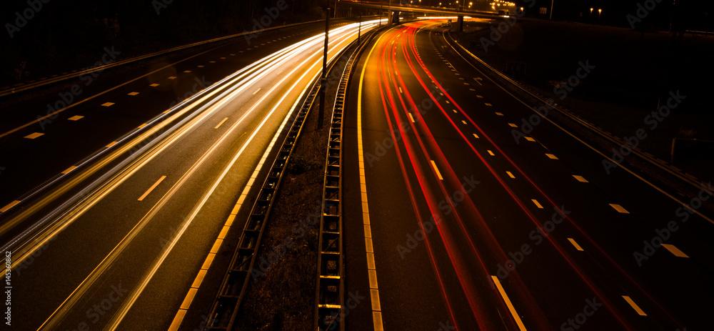Valokuva  snelweg bij nacht