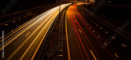 Fotografía  snelweg bij nacht