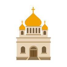 Orthodox Church Flat Icon