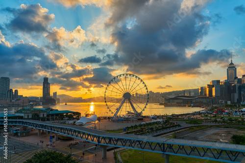 Türaufkleber Hongkong Hong Kong city.