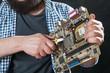 Service engineer repair pc motherboard